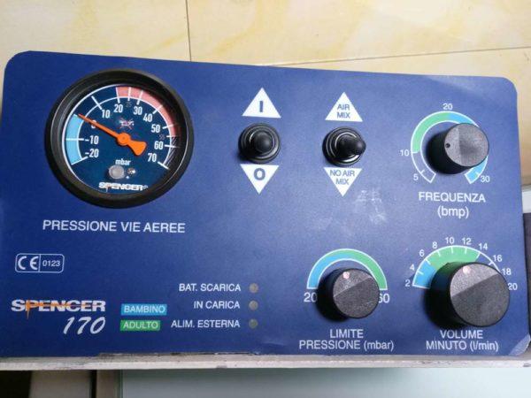 Ventilatore Polmonare Spencer 170 - ideale per mezzi di soccorso